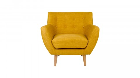 Fauteuil en tissu jaune curry - Collection Monte - House Nordic