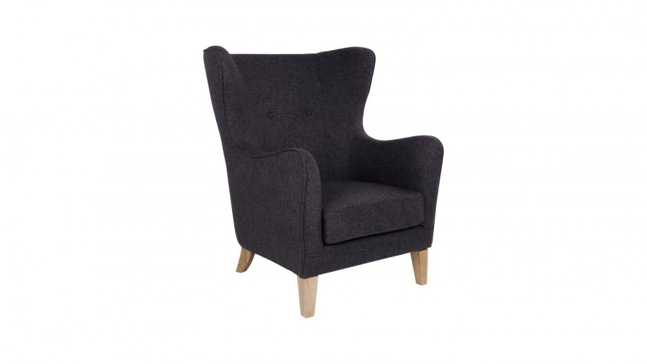 Fauteuil en tissu gris anthracite - Collection Campo - House Nordic