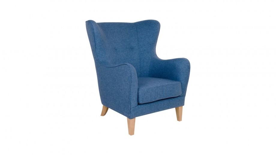Fauteuil en tissu bleu - Collection Campo - House Nordic