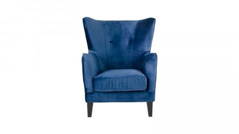 Fauteuil capitonné avec accoudoirs en velours bleu nuit - Collection Campo - house Nordic