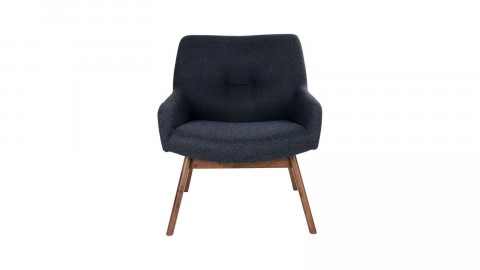Fauteuil en tissu gris anthracite - Collection London - House Nordic