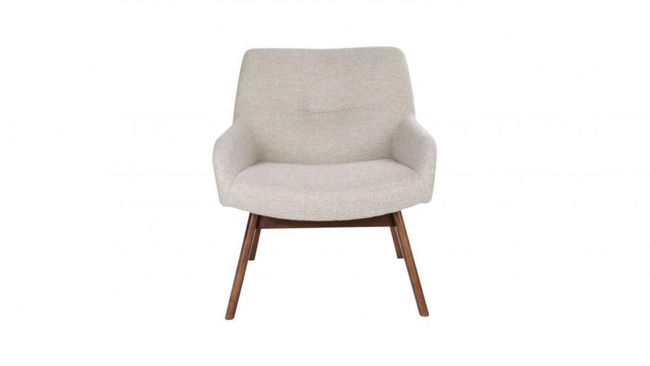Fauteuil en tissu sable - Collection London - House Nordic