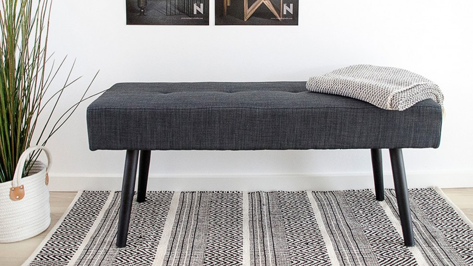 Banc en tissu gris anthracite - Collection Skiby - House Nordic