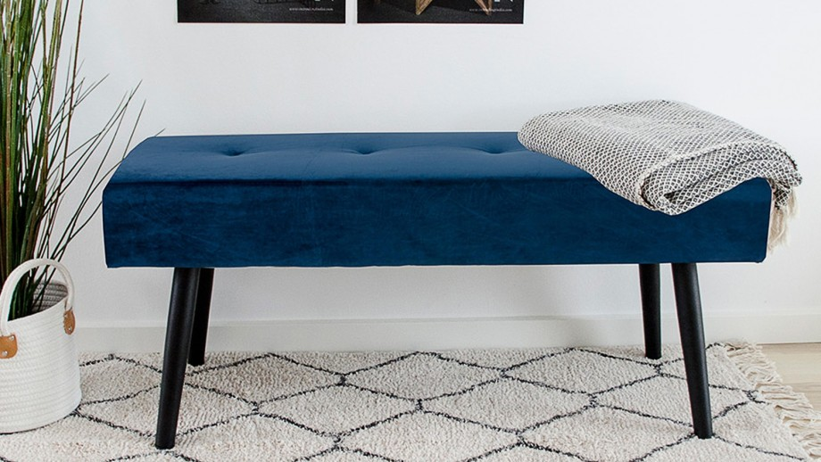 Banc en velours bleu - Collection Skiby - House Nordic