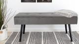 Banc en velours gris - Collection Skiby - House Nordic