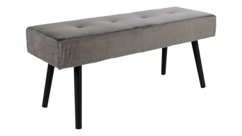 Banc en velours gris - Collection Skiby - House Nordic