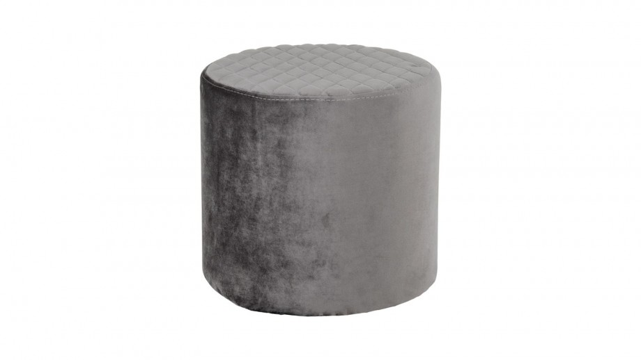 Pouf rond en velours vert - Collection Ejby - House Nordic