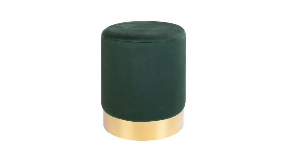 Pouf en velours vert - Collection Gamby - House Nordic