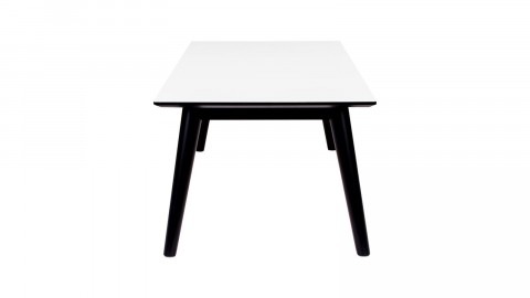 Table basse en melamine plateau blanc piètement noir - Collection Copenhagen - House Nordic