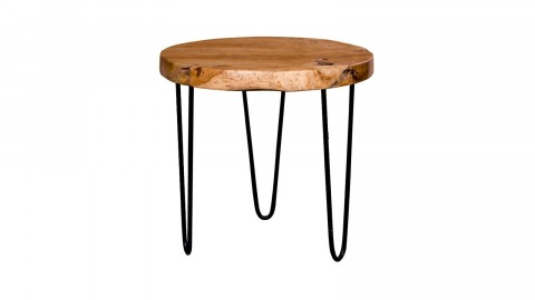 Table d'appoint en teck piètement épingle en métal - Collection Ferrol - House Nordic