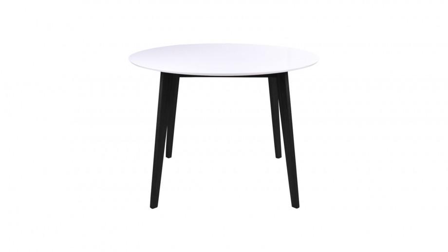 Table à manger ø105 noire et blanche - Collection Vojens - House Nordic