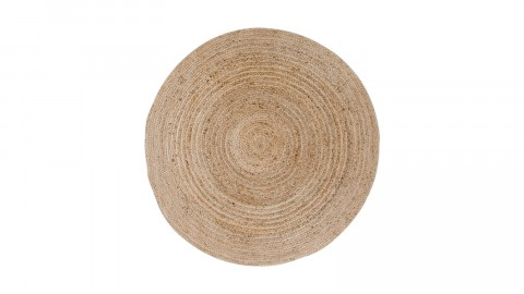 Tapis Ø90 cm en coton et jute naturel - Collection Bombay - House Nordic