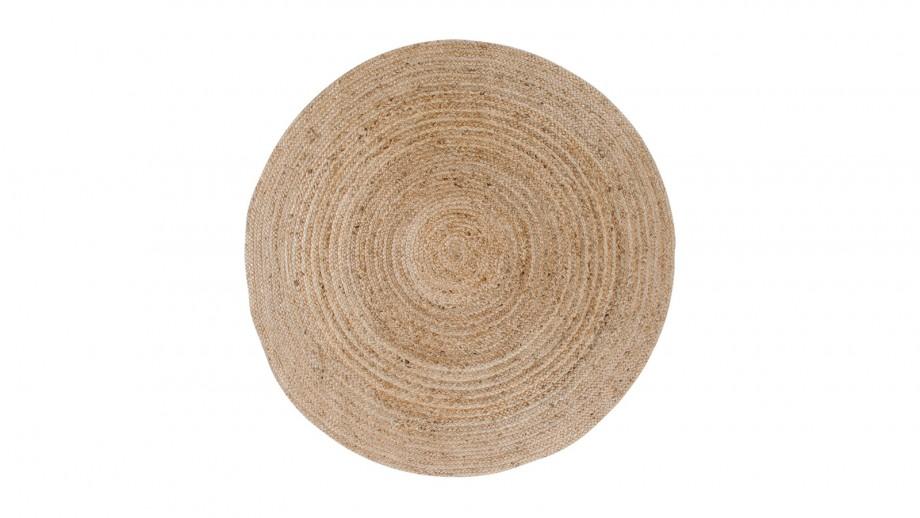 Tapis Ø180 cm en coton et jute naturel - Collection Bombay - House Nordic