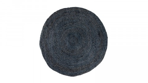 Tapis Ø90 cm en coton et jute gris anthracite - Collection Bombay - House Nordic