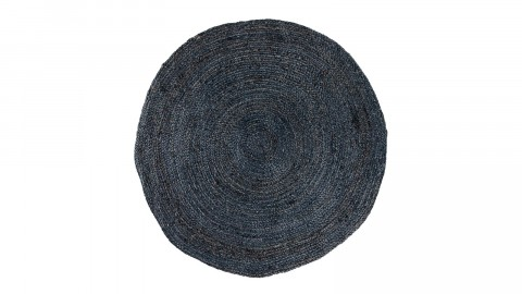 Tapis Ø150 cm en coton et jute gris anthracite - Collection Bombay - House Nordic