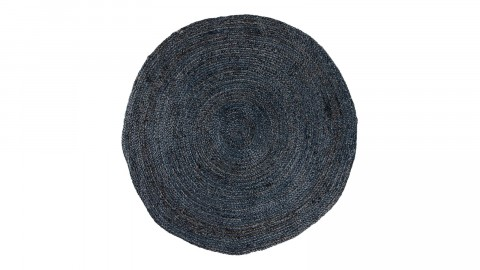 Tapis Ø180 cm en coton et jute gris anthracite - Collection Bombay - House Nordic