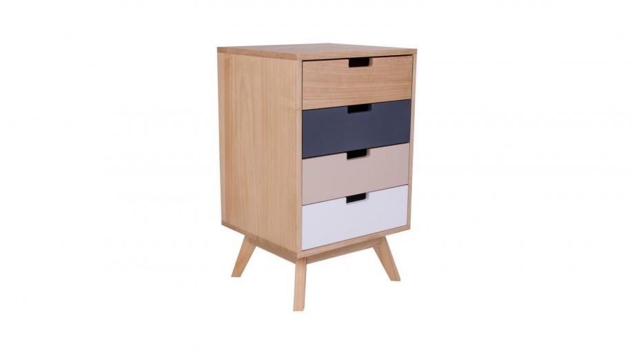 Meuble de rangement en bois multicolore 4 tiroirs - Collection Milano - House Nordic