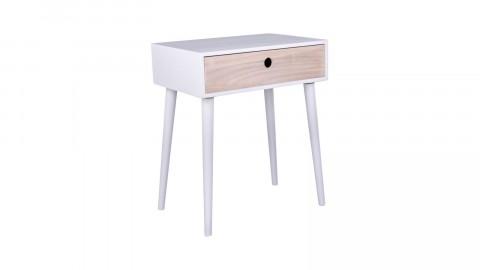 Table de chevet en bois naturel et blanc 1 tiroir - Collection Parma - House Nordic