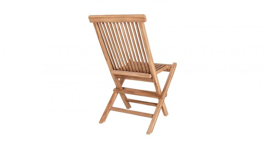 Lot de 2 chaises d'extérieur en teck - Collection Toledo - House Nordic