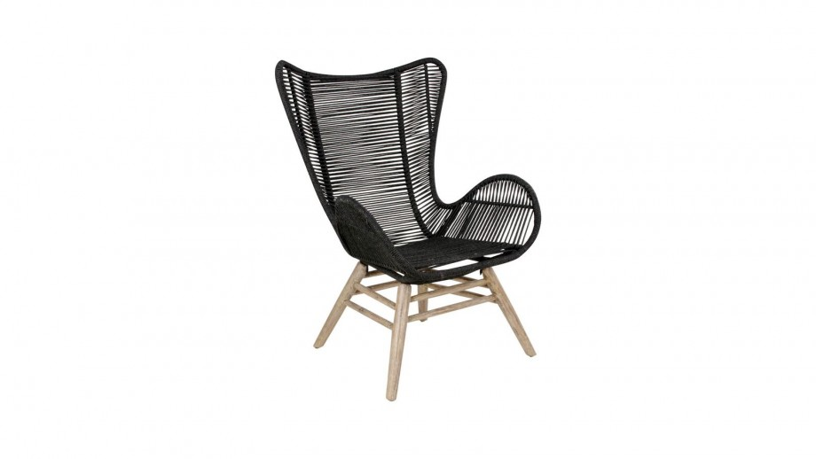 Fauteuil en acacia noir - Collection Helsinki - House Nordic