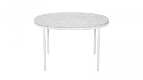 Table basse plateau en marbre blanc piètement métal blanc - Collection Vega - Bloomingville