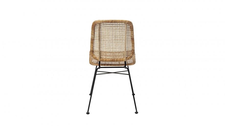 Lot de 2 chaises en rotin piètement métal - Collection Laurel - Bloomingville