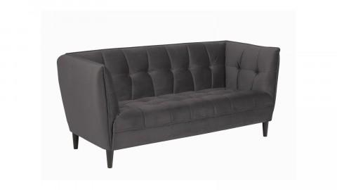Canapé 2,5 places en velours gris - Collection Jonna