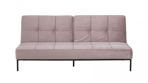 Canapé convertible en tissu rose clair - Collection Perugia