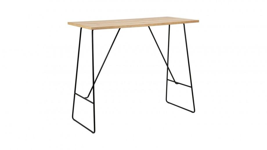 Table de bar en bois piètement en métal noir - Collection Lisa