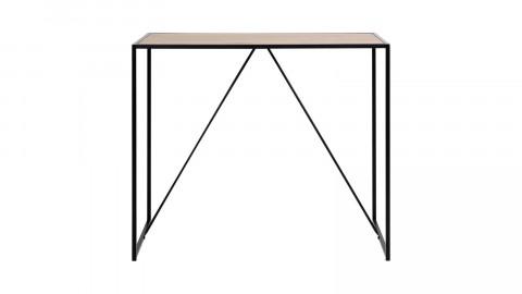 Table de bar en bois piètement tréteaux en métal noir - Collection Seaford