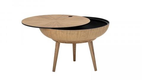 Table basse ronde en bois rangement intégré - Collection Ronda - Bloomingville