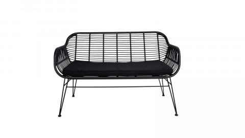 Canapé outdoor en rotin noir - collection Trieste