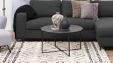 Table basse ronde en verre et métal noir – Collection Alisma