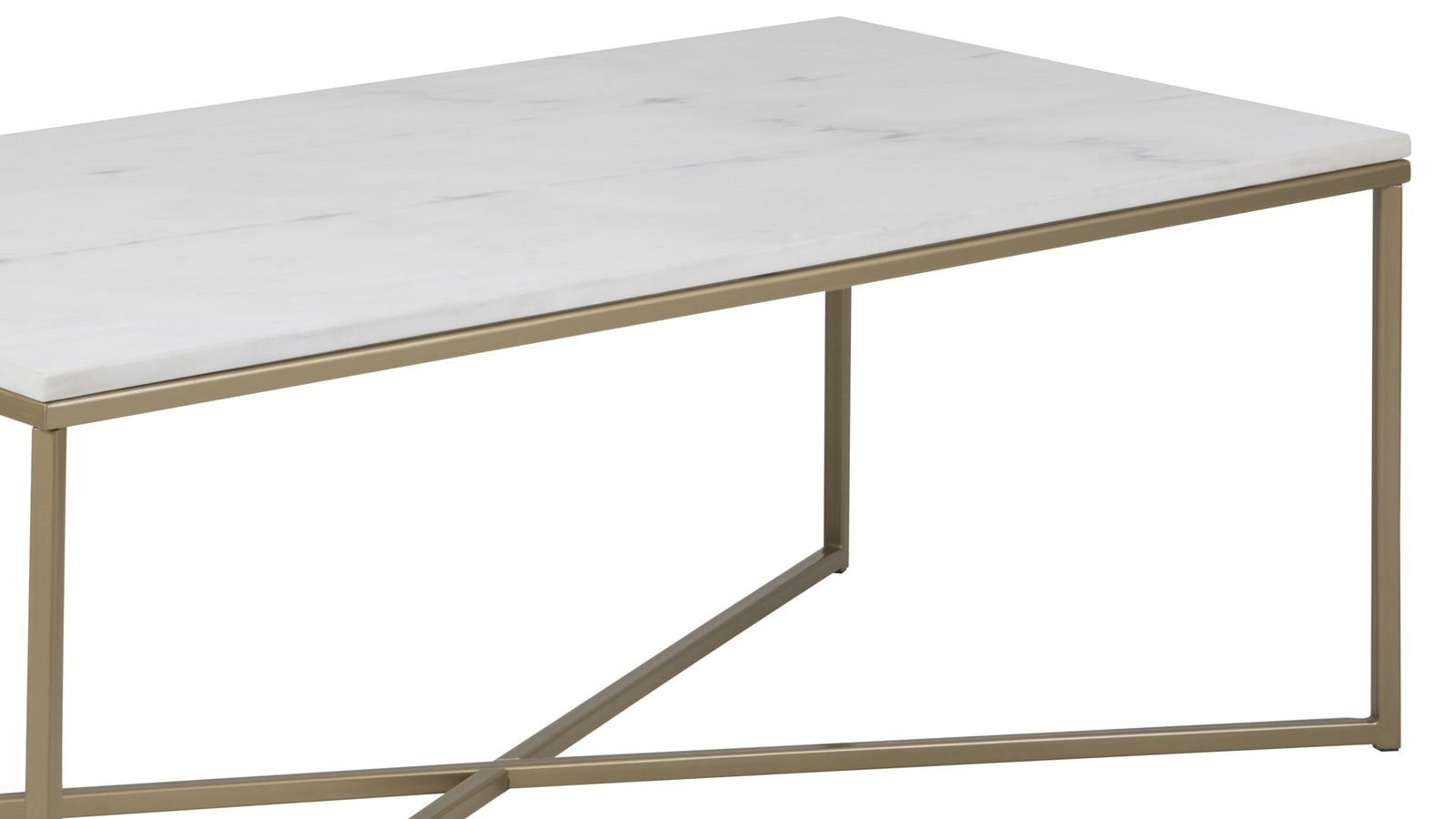 Table Basse Rectangulaire Marbre Et Metal Dore Collection