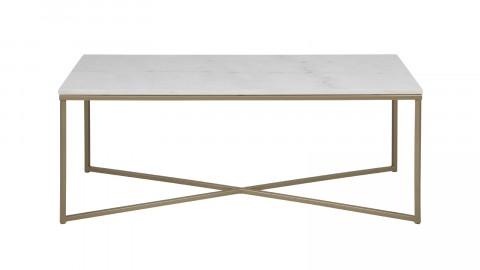 Table basse rectangulaire marbre et métal doré – Collection Alisma