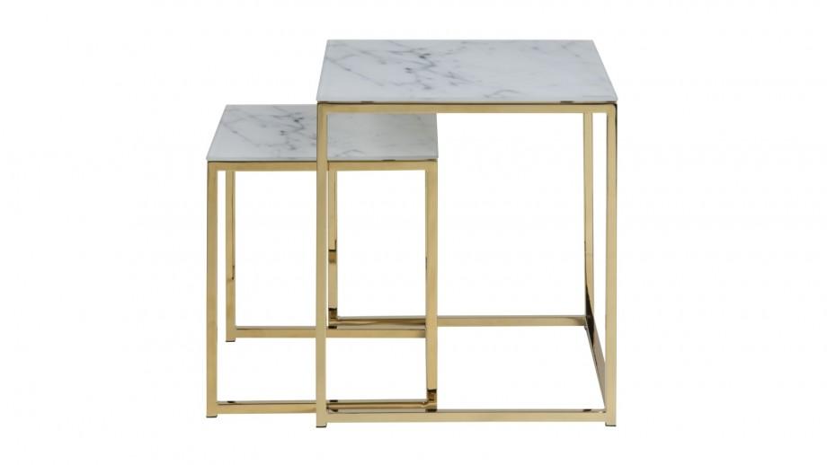 Lot de 2 tables gigognes carrées - Collection Alisma
