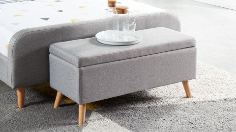 Banc coffre gris clair 100cm - Collection Dan