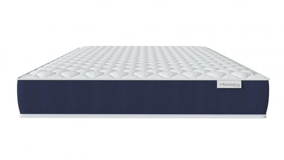 Ensemble matelas mémoire 140X190 Visco Fresh + Lit gris clair avec sommier Gaby - Mousse HD + Mémoire de forme - Hbedding