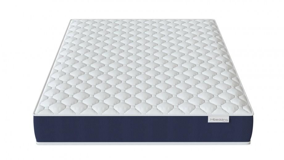 Ensemble matelas mémoire 160x200 Visco Fresh + Lit gris foncé avec sommier Gaby - Mousse HD + Mémoire de forme - Hbedding