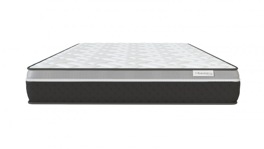 Ensemble matelas mémoire 160x200 Ergo Gelfresh + Lit gris foncé avec sommier Gaby - Visco Gel + Mémoire de forme - Hbedding