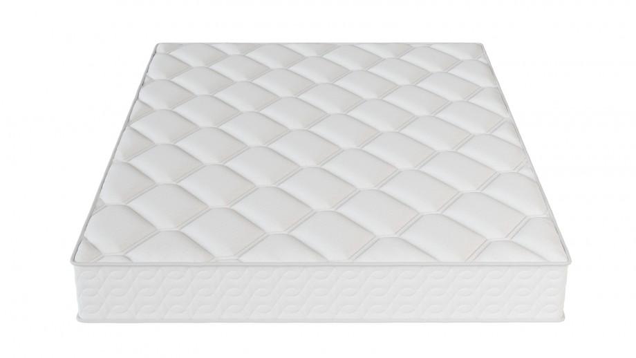 Ensemble matelas ressorts 160x200 Spring Confort + Lit gris clair avec sommier Gaby - Mousse HD + Ressorts ensachés - Hbedding