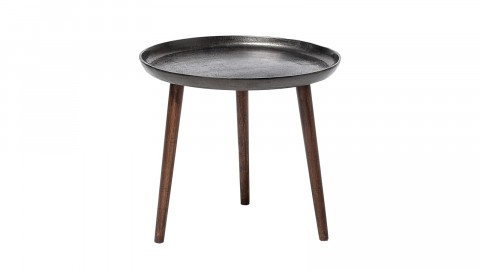 Table basse en aluminium et bois - Collection Cone - Bloomingville
