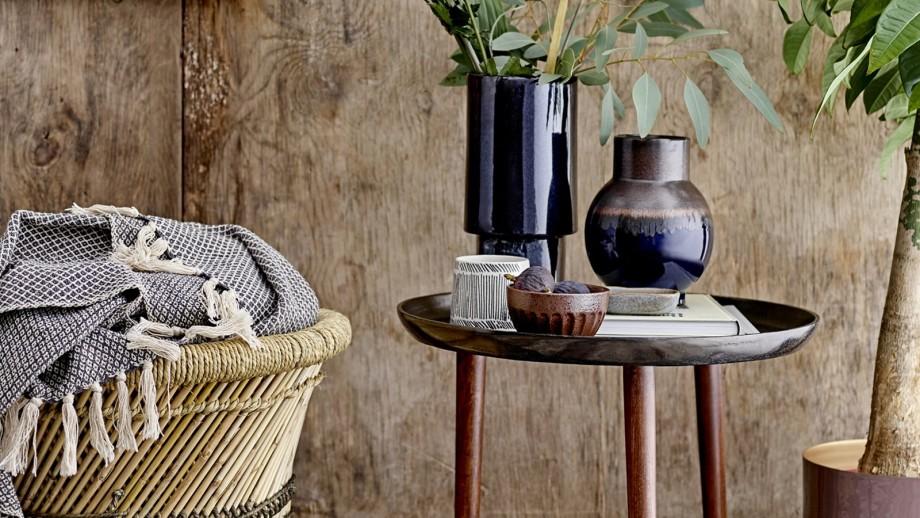 Table basse en aluminium et bois - Collection Cone - Bloomingville