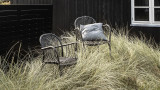 Lot de deux chaises de jardin noir - Collection Brea - House Doctor