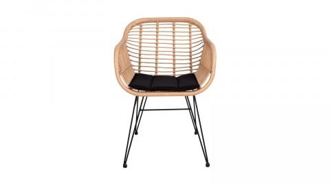 Lot de deux chaises en rotin naturel avec accoudoirs - Collection Trieste - House Nordic