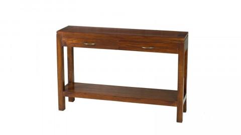 Console rectangulaire 2 tiroirs en mindi - Collection Lauren