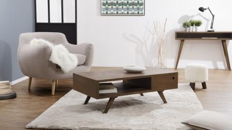 Table basse 1 tiroir double en mindi - Collection Fancy