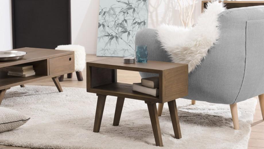 Bout de canapé 60x30cm en mindi - Collection Fancy