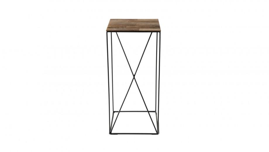 Table d'appoint M en teck recyclé et métal - Collection Edouard