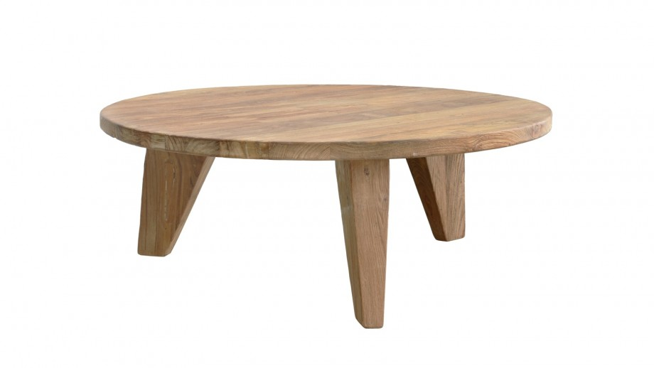 Table basse ronde en teck - HK Living